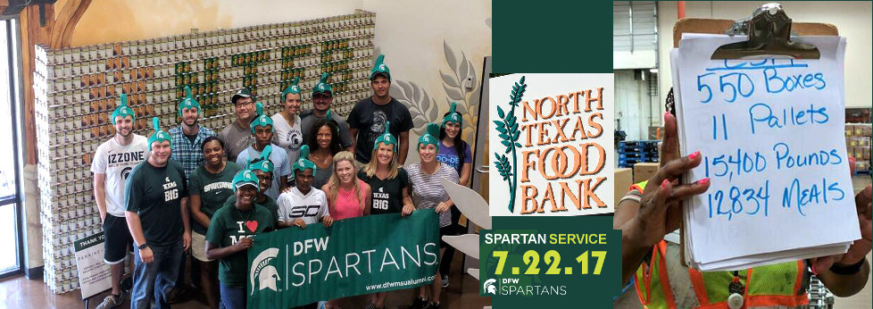 DFW Spartans North Texas Food Bank Service Day Results